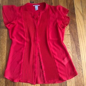 H&M sleeveless red blouse